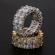 Кольца женские и мужские с большим цирконом золотистые/серебристые