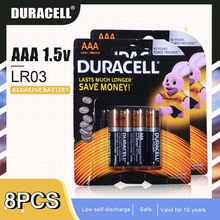 DURACELL – batterie alcaline 1.5V AAA LR03 pour brosse à dents électrique, jouet, lampe torche, télécommande, cellule primaire sèche, 8 pièces
