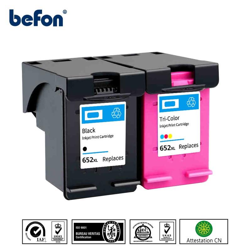 Befon восстановленные HP 652 652XL HP 652 сменный картридж для принтера с чернилами HP Deskjet 1115 1118 2135 2136 2138 3635 3636 3638 3838 3835