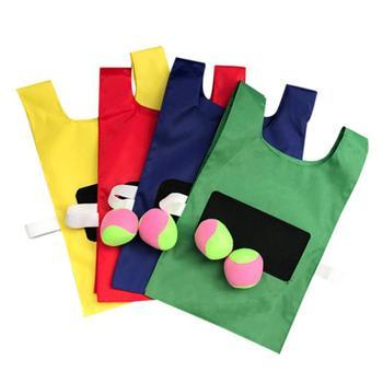 Sticky Jersey aktywność na świeżym powietrzu zabawki rekwizyty kamizelka z lepką piłką lepka koszulka kamizelka rzucanie aktywność na świeżym powietrzu zabawa sportowe zabawki tanie i dobre opinie 4-6y 7-12y 12 + y CN (pochodzenie) Tkanina Do not eat Sticky jerseys throwing vest Do rozwijania umiejętności chwytania poruszania się
