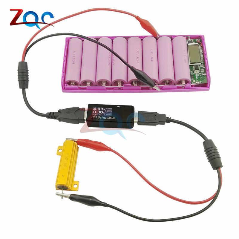 Màn Hình Hiển Thị Kép USB Máy Kỹ Thuật Số Khuếch Xe Ô Tô, Điện Đồng Hồ Báo Điện Áp, Bank Bác Sĩ 5V 12V