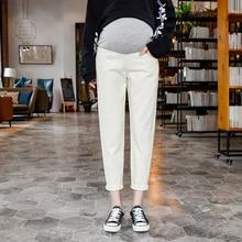 Denim Maternity Jeans for Pregnant Women Clothes Elastic Waist Belly Loose Pants Pregnancy Gravidas Clothing