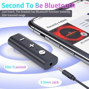 Image 2 - Essager Bluetooth 5.0 מקלט עבור 3.5mm שקע אוזניות אלחוטי מתאם Bluetooth Aux אודיו מוסיקה משדר עבור אוזניות