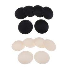 6 par miękkich okrągłych wkładek do biustonosza na stanik sportowy Bikini Top strój kąpielowy czarny i beżowy