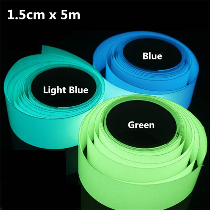 5mx15mm Luminous Tape Self-adhesive Green Blue Glowing In The Dark Safety Stage Decor Sticker Decoration Tape Security Home