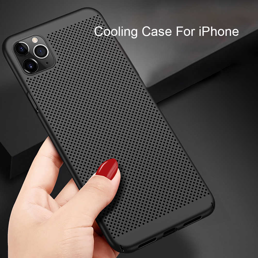 Eqvvol Ultra Thin Cho iPhone 11 2019 Coque iPhone 11 Pro XS Max XR X 8 7 6 6S Plus PC Cứng Tản Nhiệt Lưng Ốp Lưng