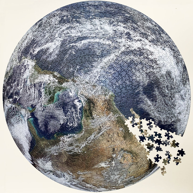Round Moon And Earth Puzzle 1000 Pieces for Adult Jigsaw Puzzle Toys Educational Toy Kids Gifts 1000pcs Moon Circular Puzzle 4