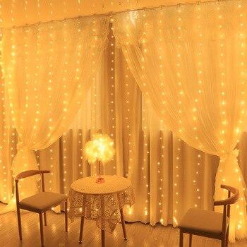 Шторы лампы, LED струнные USB Батарея Фея гирлянда лампа Свадебная вечеринка Рождество солнечного света для окна для дома на открытом воздухе Декор Светодиодная лента      АлиЭкспресс