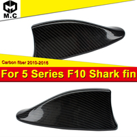 For BMW 5 Series F10 F11 520i 535i 550i Carbon Fiber Roof Shark Fin Antenna Cover Add on Style M5 Look With Adhesive tape 12 18