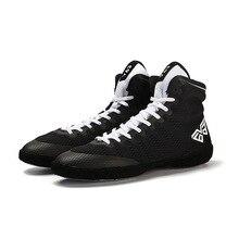 Мужская Профессиональная борцовская обувь, мужская легкая боксерская обувь, дышащие бои, высокие тренировочные кроссовки D0877