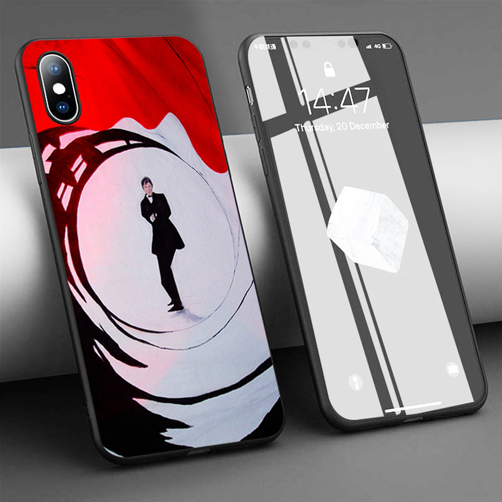 Coque James Bond Theme Party Soft Silicone Phone Case for iPhone 11 Pro Max X 5S 6 6S XR XS Max 7 8 Plus Case Phone Cover