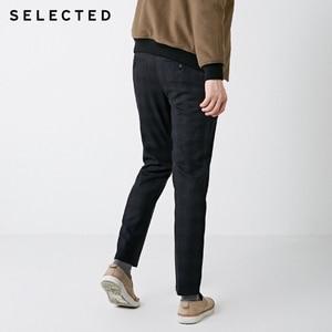 Image 3 - SELECTED Winter Slim Fit Plaid Pants S