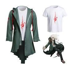 Takerlama Super Danganronpa 2 Nagito Komaeda Косплей куртка футболка наборы Хэллоуин костюмы для женщин мужчин взрослых Аниме одежда