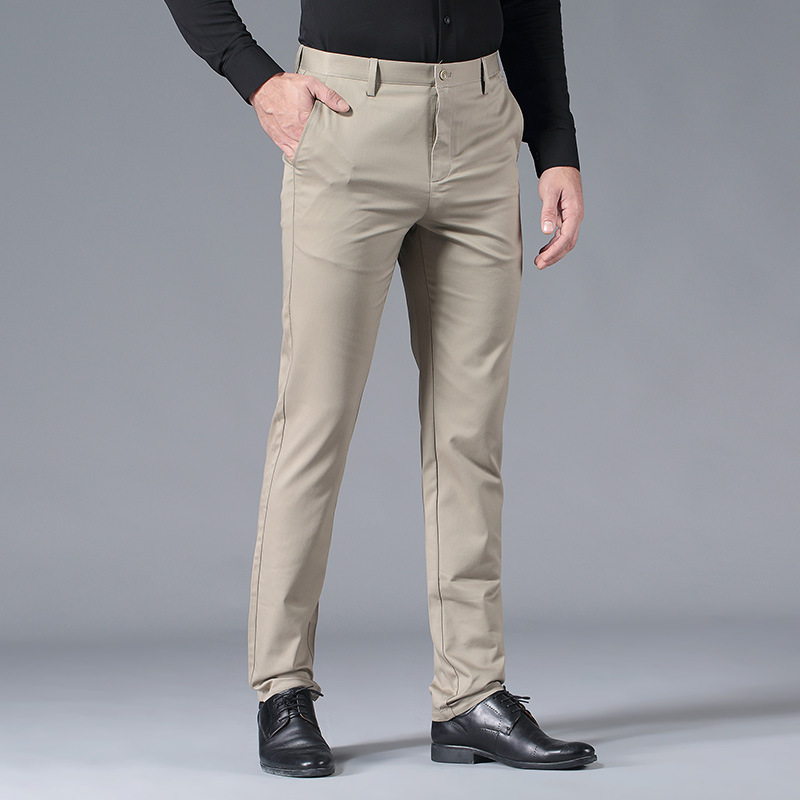 Spring Summer Men Thin Casual Pants Loose Straight Men's Trousers Online Celebrity Ultra-Thin Pants Cultivating And Pants Men's