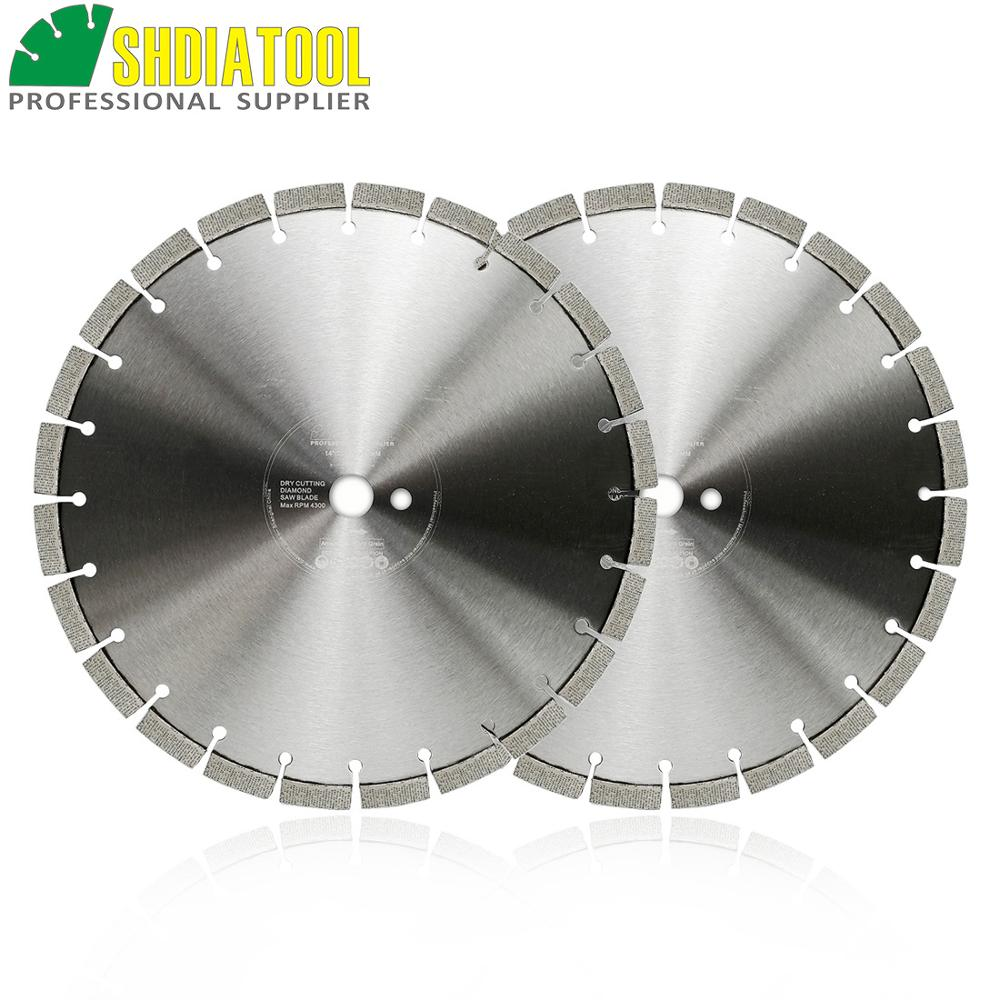 SHDIATOOL 2pcs/pk 16inch Professional Laser Welded Arrayed Diamond Saw Blade 414mm Cutting Disc For Reinforced Concrete
