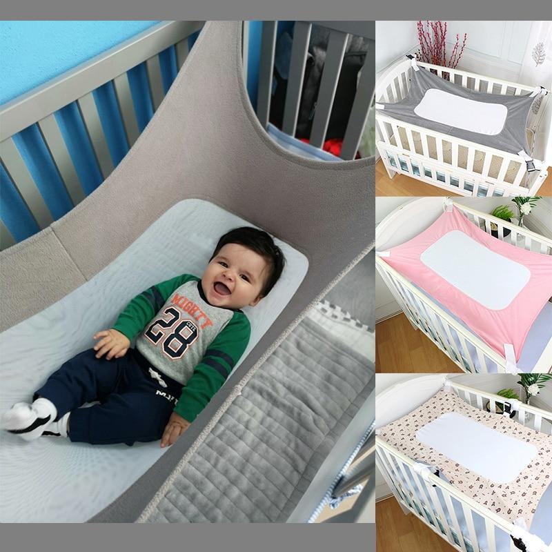 Infant Cot Baby Hammock Kid Sleeping Bed Safe Detachable Travel Baby Cot Crib Swing Elastic Hammock With Adjustable Net