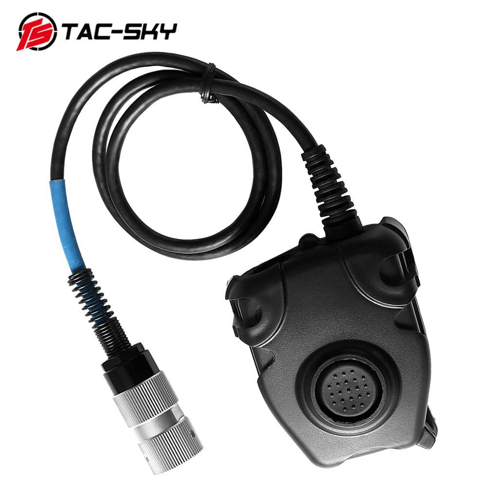 TAC-SKY U94 6-pin PELTOR PTT For Harris AN / PRC152 PRC148 Walkie-talkie Model 6-pin Military Headset Plug PTT PELTOR