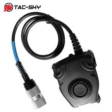 TAC-SKY U94 6-pin PELTOR PTT for Harris AN / PRC152 PRC148 walkie-talkie model military headset plug