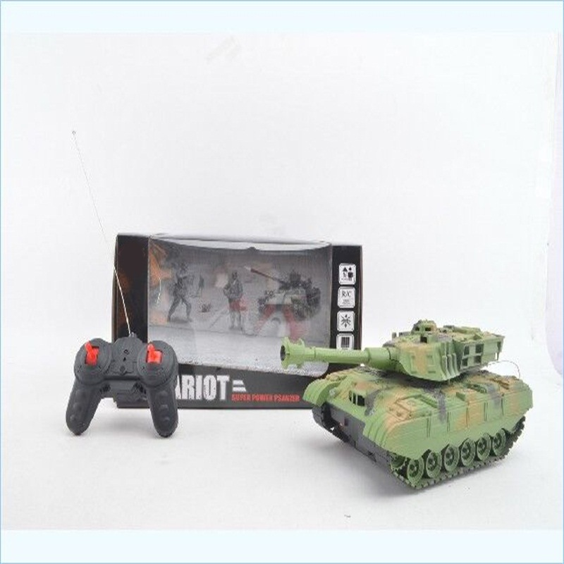 Remote Control Tank Four-Channel Model Tank Children Remote Control Military Model Toy Tank E-Bike