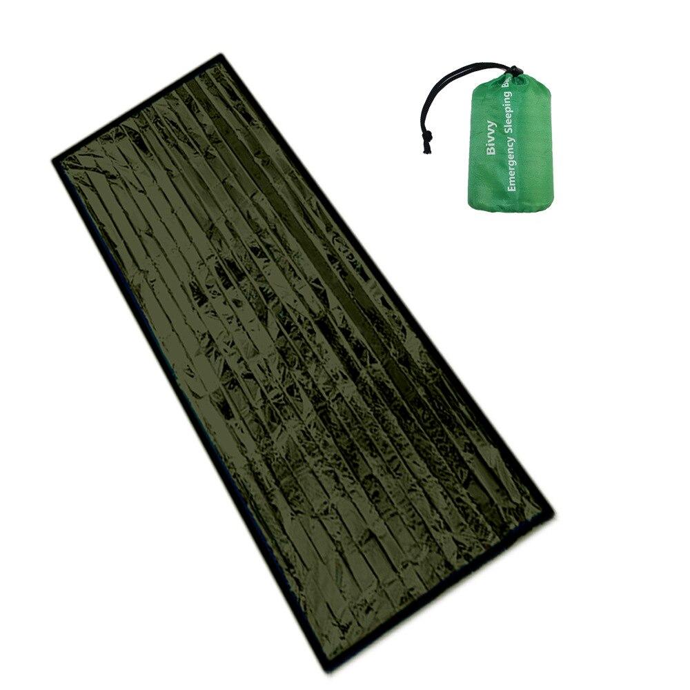 Green Life Bivy Emergency Sleeping Bag Keep Warm Waterproof Thermal Mylar First Aid Emergency Blanke Camping Survival Gear