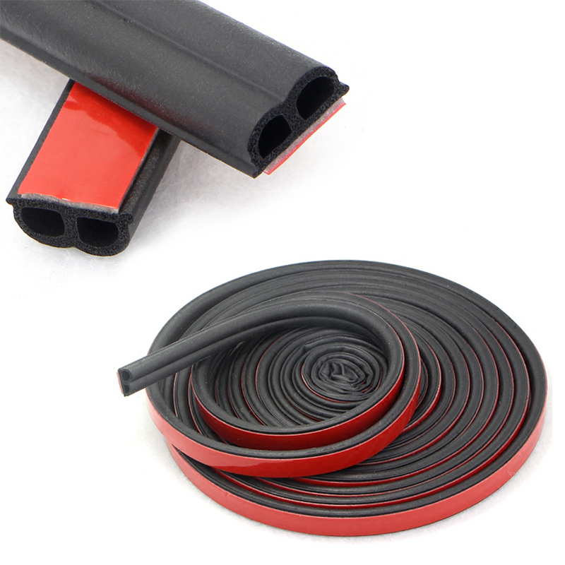 Car 4/5/10/16Meter B Type Car Rubber Seal Sound Insulation Weatherstrip Edge Noise Insulation Car Door Sealing Strip Accessories