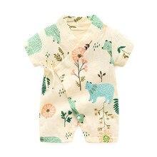 Лидер продаж, пижама для новорожденных, для маленьких мальчиков и девочек, трикотажный халат с рисунком, Детский комбинезон-кимоно, комбинезон, одежда для сна, пижамы, Para Recien Nacido