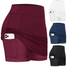 Tennis Skirts Workout-Clothes Golf Womens Plus-Size Solid -0610y30 Performance