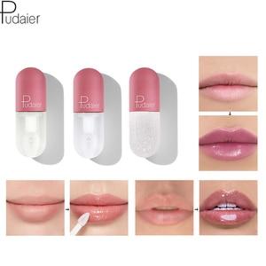 Pudaier Moisturize Lip Gloss Mini Capsule Tube Clear Lip Gloss Color Change Plumping Lipgloss Glitter Makeup Glossier Lip Tint(China)