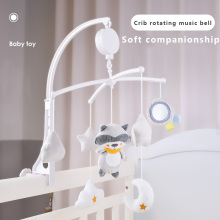 Baby Bed Mobiles Rattle Toys with Holder Music Box Soft Bear Fox Doll Infant Sleep Companion Newborn Gift 0-12 Month Toy on Crib