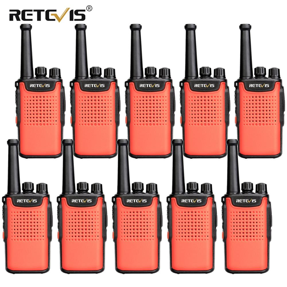 10pcs Retevis RT667/RT67 Walkie Talkie PMR Radio PMR 446 UHF VOX Non-magnetic Speaker 3000mAh 2 Way Radio For Hotel/Restaurant