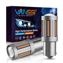 VANSSI Bau15s 7507 PY21W LED CANbus ไม่มี Hyper Flash T20 7440 7440NA WY21W LED หลอดไฟสัญญาณ CANbus ข้อผิดพลาดฟรี amber สีเหลือง