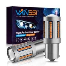 VANSSI Bau15s 7507 PY21W LED Canbus sin hiperflash, T20 7440 7440NA WY21W, luz LED de señal Canbus, sin Error, ámbar, amarillo