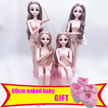 1/3 BJD Dolls 60 Cm 22 Movable Joint Doll 4D Blinking Simulation Doll Set Girl Princess Gift Toy Naked Body Fashion Dolls DIY yativavi 1 6 bjd factory doll 22 joint body special offer low price diy modified makeup girl gift naked doll 30 cm shoes clothes