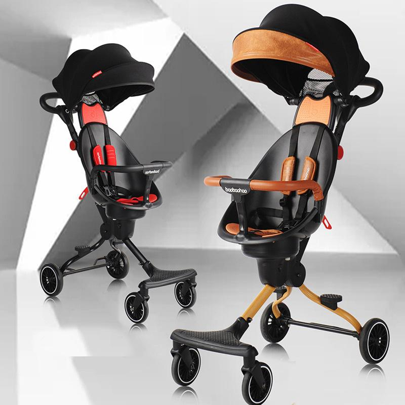 Baby Stroller Baby Walking Tool Portable Foldable Around Silicon Out 4wheel Baby Cart Generation of Fat plane subway Pushchair