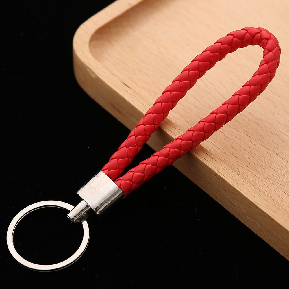 Fashion Leather Keychain Stiches for Women Bag Decor Accessories Keyring 1 Pc