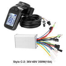 24V-48V/36V-60V 350W электрические велосипеды самокат мотора контроллера ЖК-дисплей Дисплей Панель дроссельная заслонка, фара для электровелосипед...