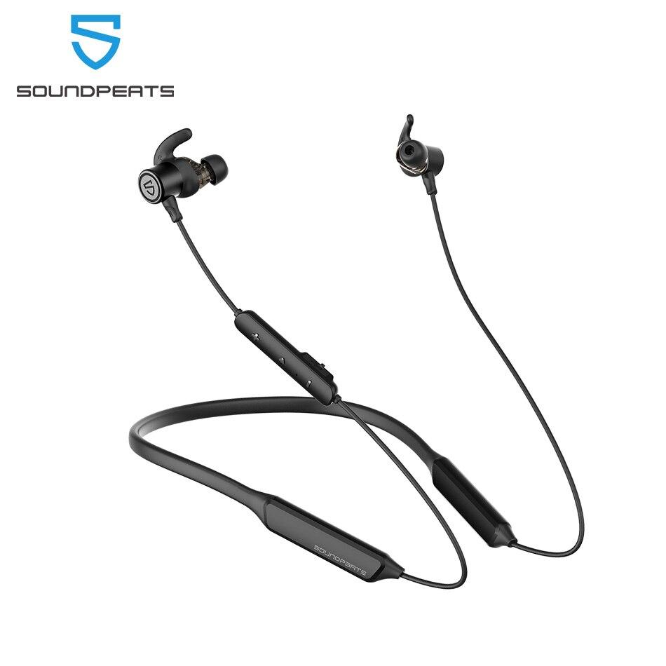 Soundpeats força pro bluetooth fones de ouvido sem fio cvc microfone embutido estéreo super bass in-ear magnético esportes fones de ouvido 22h jogador