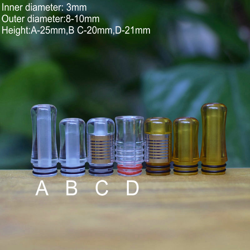 Original Drip Tip 510 Mtl Drip Tip Narrow Bore High Polished PEI Clear Small Mouthpiece Vape Accessory
