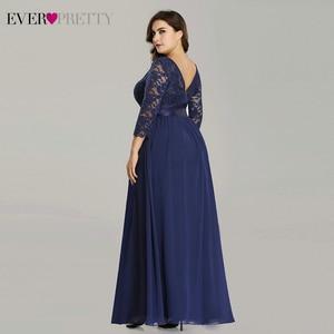 Image 5 - Plus Size Evening Dresses Long 2020 Elegant Lace Long Sleeve Formal Party Evening Dress for Wedding Robe Longue Manche Longue