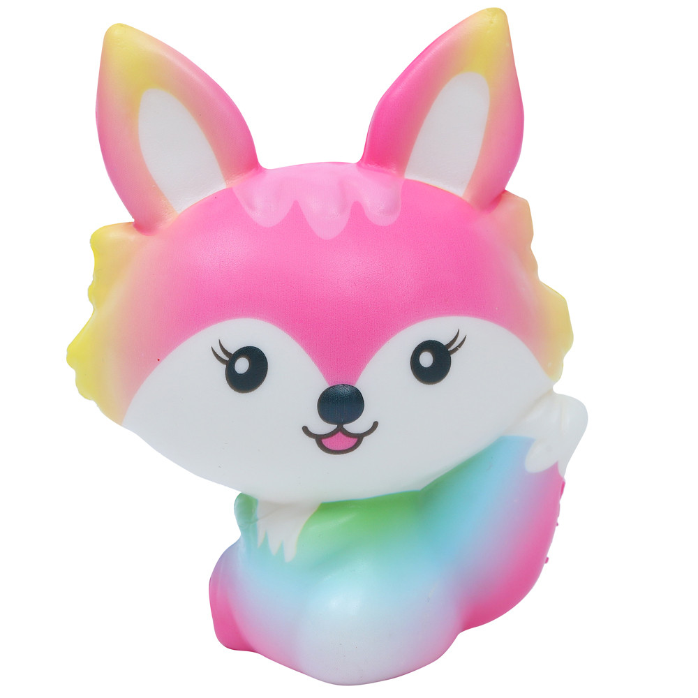 Cute Squishy Kawaii Mini Fox Stress Relief Cream Scented Squishies Slow Rising Squish Funny Animal Squishy Squezze Kids Toys