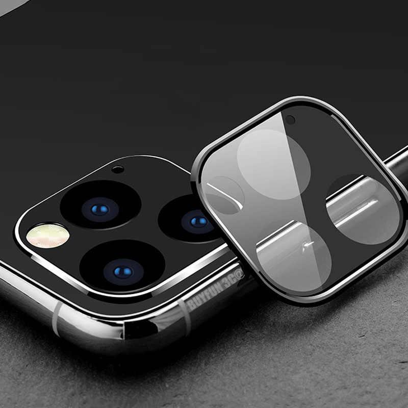 Szkło ochronne na iPhone 11 Pro X XS Max Film osłona obiektywu na obiektyw Apple iPhone11 Pro Max pokrowiec aluminiowy
