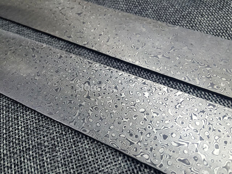 Tools : 1piece Damascus steel DIY knife Making Spiral texture Sandwich Pattern steel Knife blade blank Kitchen knife Heat Treatment
