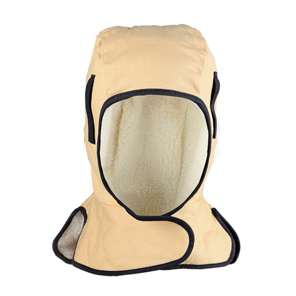 Welding Hats Leather Welding Hood Warm Winter Neck Cape Welding Helmet Flame Retardant Cotton Welding Cap For Face Protection