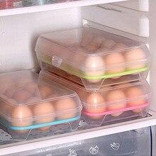 15 ячеек, кухонный холодильник, однослойная коробка для яиц, коробка для хранения, практичная, креативная, домашняя, портативная, пластиковая коробка для хранения еды для пикника