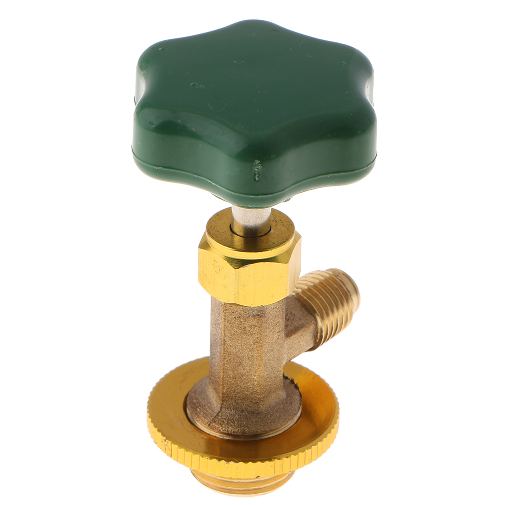1/2 SAE Auto Car AC Can Tap Valve Bottle Opener For R134a Gas Bottle Air Conditioning Accessories Green