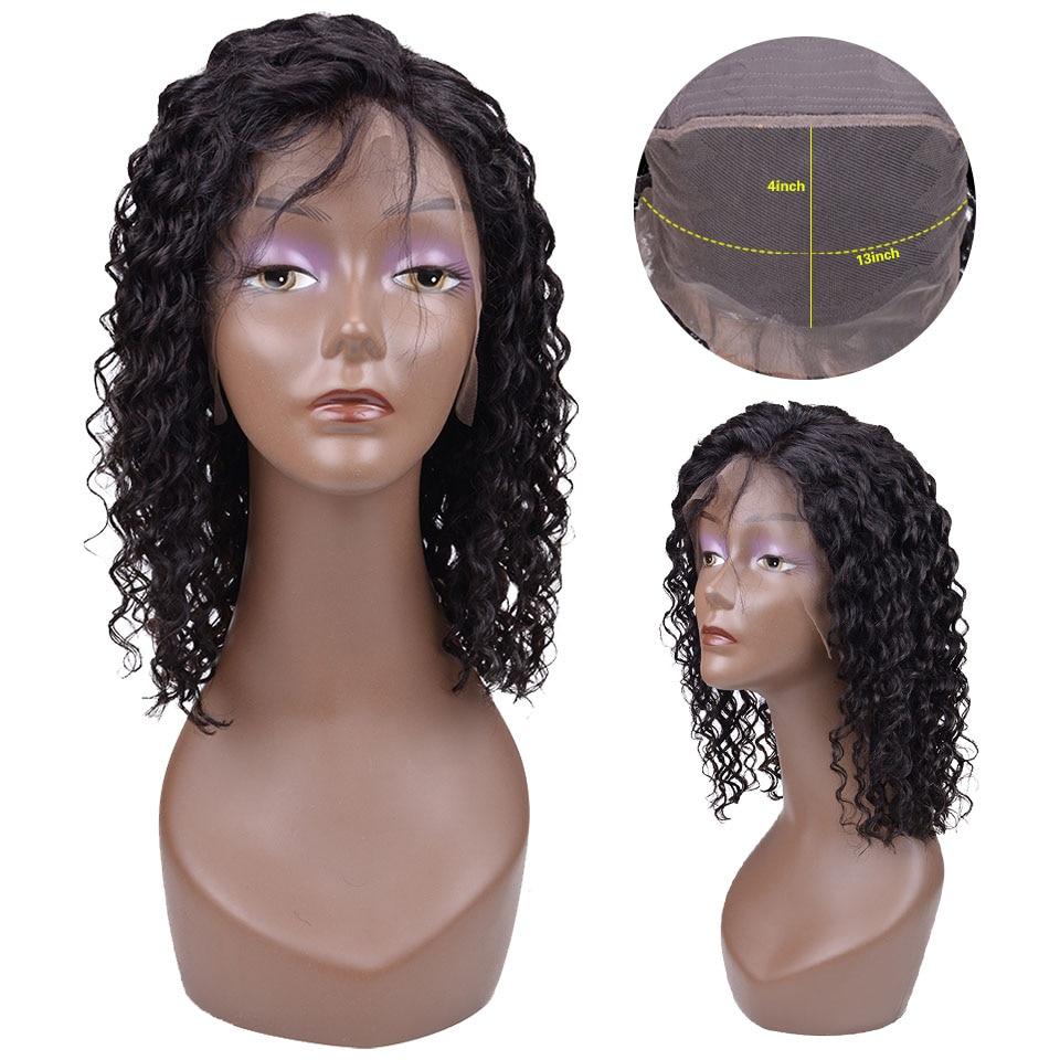 13X4 Short Bob Wigs Brazilian Lace Front Human Hair Wigs For Black Women180 Densty Remy Deep Wave Lace Front Wigs in Human Hair Lace Wigs from Hair Extensions Wigs