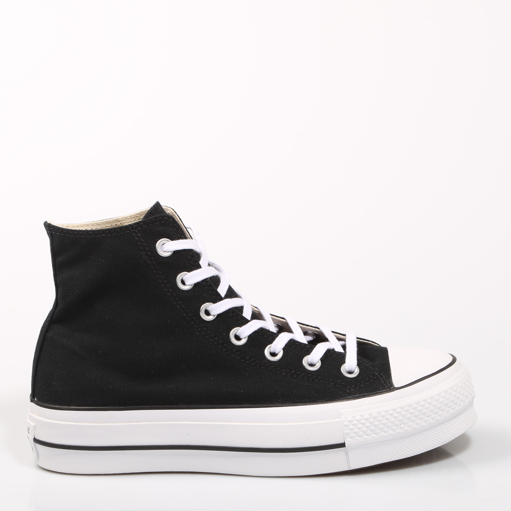 Converse Chuck Taylor All Star Platform Clean High Top Black SNEAKERS Woman Shoes Casual Fashion 67577