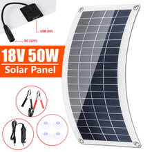 50W Solar Panel Dual USB Output Solar Cells Solar Panel 10/20/30A /40A/50A/60A Controller for Car Yacht 12V Battery Boat Charger