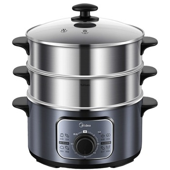 220V  Three-layer Electric Steaming Pot  Automatic  Household Food Steamer  Electric Steam Steam Cooker  Food Warmer