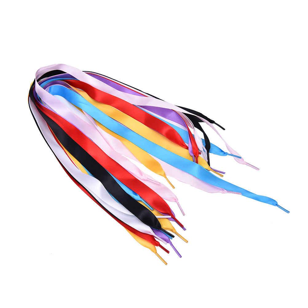 NOVA 1 Par Japão-Coréia cores de doces fita larga Cinta cadarço Cordas para Sneakers Unisex planas 7 Cores nova